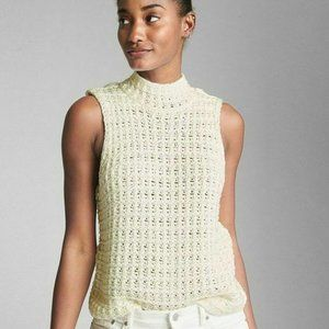 Gap Crochet Mock Neck Tank Top Size S